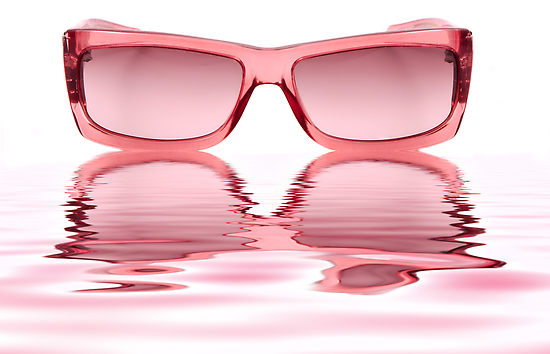 being able to see our rose-colored glasses