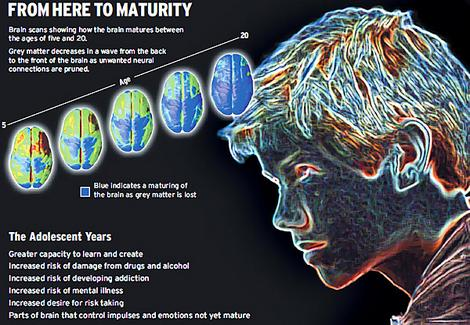 Psychology studies teens maturity