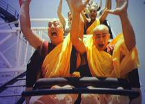 Monks on roller coaster