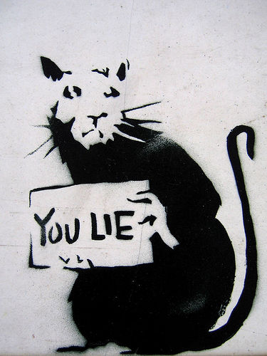 banksy you lie