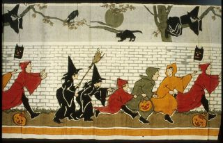 Halloween decoration printed on crepe paper from about 1913-1918, Courtesy of Th