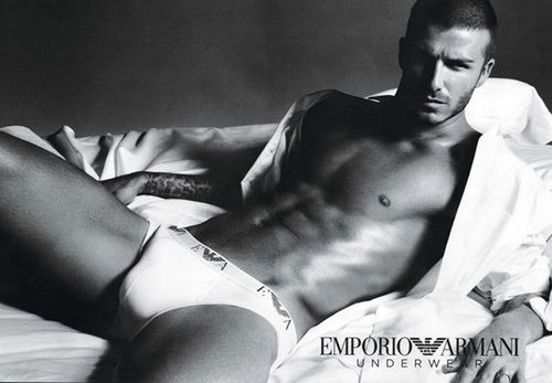 David Beckham's 2009 underwear ad for Emporio Armani.